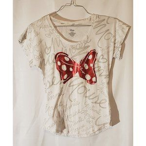 Authentic Disney Minnie Mouse Tee, Size S